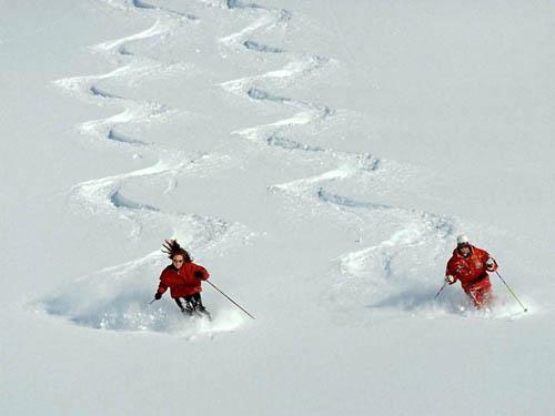 Esquiando en Austria