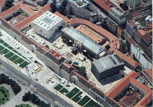 Vista aérea del barrio de los museos. Foto Isadora Daiaux (c)
