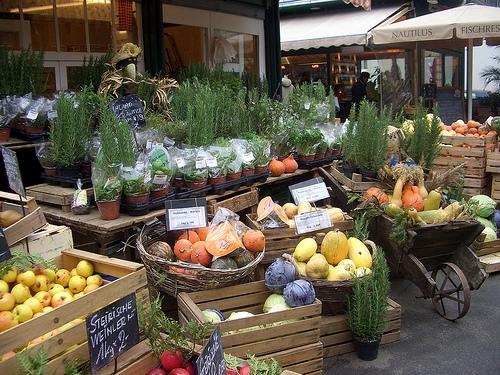 Mercado de las golosinas en Viena