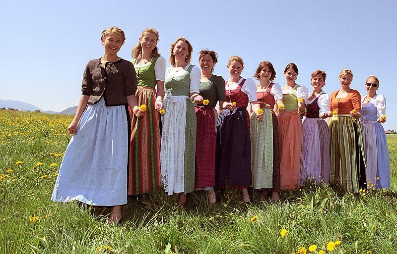 Traje tradicional tipico austriaco