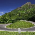 La carretera alpina Silvretta