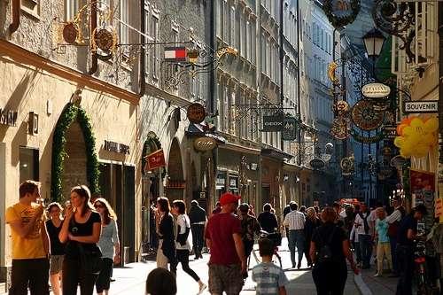 Geitreidegasse en Salzburgo