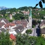 Calles medievales en la ciudad de Feldkirch