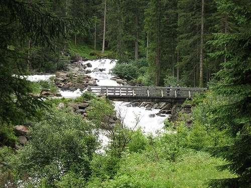 Cascada Krimm en el Parque Hohe Tauern