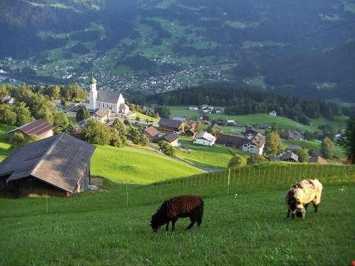 Paisaje del Valle de Montafon
