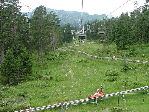montaña rusa alpina en austria