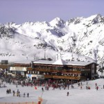 Esquí en la cadena montañosa Silvretta