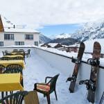 Warth-Schröcken, gran caída de nieve en los Alpes